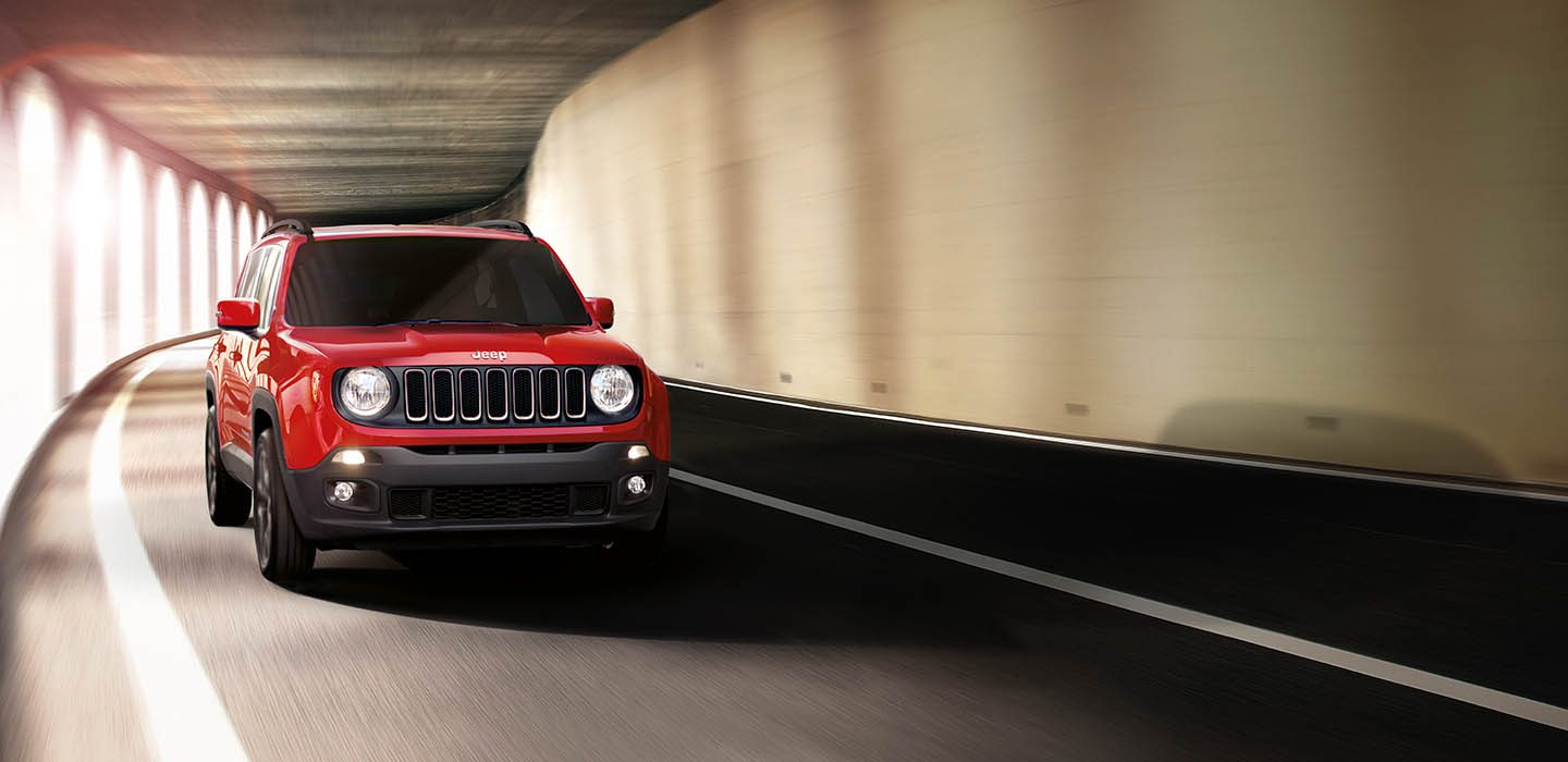 Jeep Renegade Driving Through Tunnel