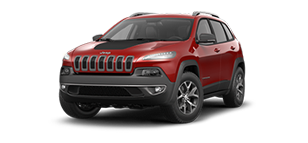 Cherry Red Jeep Cherokee Trailhawk